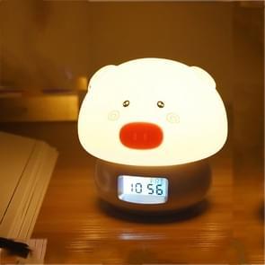Kleurrijke kleur veranderende siliconen lamp USB Opladen Creative Wekker (Goud)