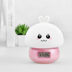 DIY recordable Alarm Night Light Cute Thing Afstandsbediening kleur veranderen Siliconen Mood Wekker (Roze)