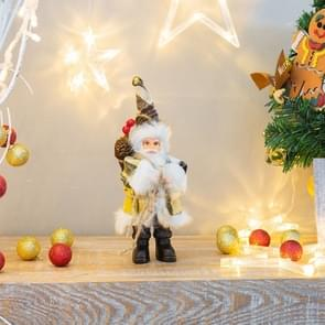 2 PCS Family Holiday Santa Doll Ornament Toy, Size:22cm(Lattice)