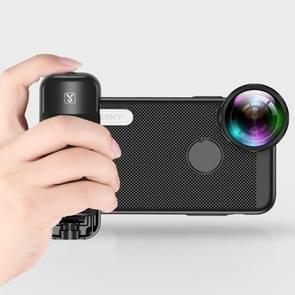 SSKY Selfie Mobiele Telefoon Bluetooth Afstandsbediening Universal Photo Wireless Shutter Selfie Handle (Zwart)