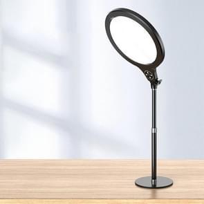 10 inch 26cm Live Broadcast Photography Desktop Beauty Fill Light Bracket  Style:Medium Version(Black)