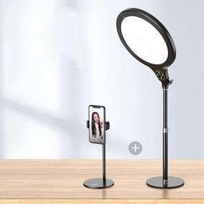 10 inch 26cm Live Broadcast Photography Desktop Beauty Fill Light Bracket  Style:Medium Version+Bracket(Black)
