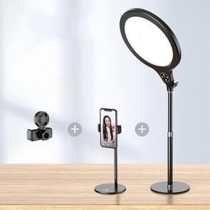 10 inch 26cm Live Broadcast Photography Desktop Beauty Fill Light Bracket  Style:Medium Version+Cooling Bracket(Zwart)