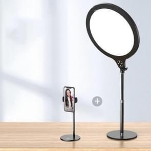 14 2 inch 36cm Live Broadcast Photography Desktop Beauty Fill Light Bracket  Style:Large Version+Bracket(Black)