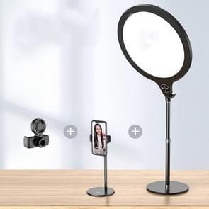 14 2 inch 36cm Live Broadcast Photography Desktop Beauty Fill Light Bracket  Style:Large Version+Cooling Bracket(Zwart)