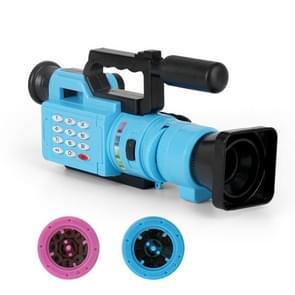 Kinderen Educatieve Fun Interactive Toys Projection Simulation Lights Music Video Recorder Toys (Blauw)