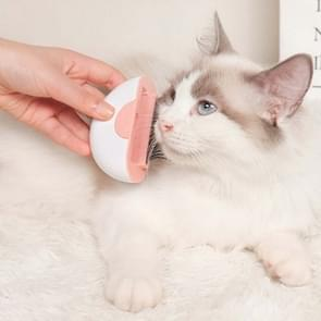 Pet Dual Purpose Long Hair Comb Dual Function Cat Massage Comb om drijvend haar te verwijderen (Cherry Blossom Powder)