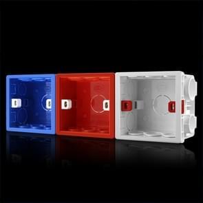 10 PCS Cassette PVC Vlamvertragende Splicing Bottom Box Switch Socket Universal Box Random Color Delivery