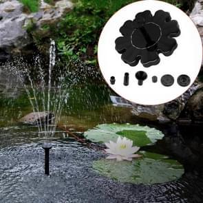 Solar Petal Fontein Drijvende Fontein Vijver Tuin Decoratie (Zwart)