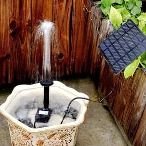 Tuin Rockery Decoratie Solar Fountain DC Water Pump Suspension Sprinkler (Zwart)