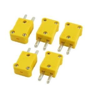 5 STKS gele kunststof behuizing platte temperatuur plug