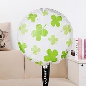 2 PCS All Inclusive Flower Desktop Floor Standing Electric Fan Dustproof Round Protective Cover(Four Leaf Clover)
