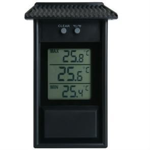 Dakranven vorm outdoor tuin koelkast waterdichte thermometer (zwart)