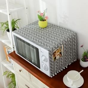 Cotton Linen Universal Microwave Oven Dustproof Storage Cover(Gray Arrow)