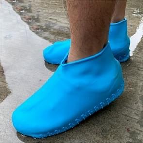 Thicken Portable Creative outdoor volwassen antislip waterdichte siliconen Schoenhoes, maat: L (blauw)