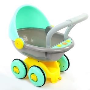 Anti-rollover leren staande Walking baby trolley multi-functie met muziek baby Walker speelgoed (licht groen)