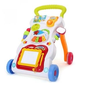 Children Trolley Multifunctional Baby Walker 0-1 Year Old Baby Toy Prevention O-Legs Toddler Wordpad Musical Instrument