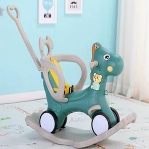 Baby schommelstoel baby schommelpaard houten multifunctionele muzikale rit op speelgoed (groen)