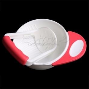 Baby Grinding Bowl Handmade Grinding Food(Pink)