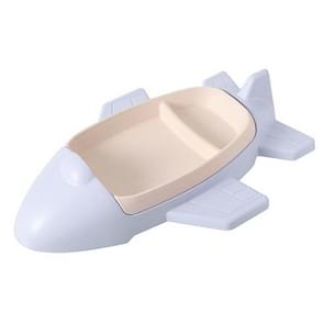 Bamboo Fiber Cartoon Airplane Children Tableware Set(Blue)
