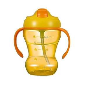 260ML Baby Child Leak-proof Drinking Cup Training Cup With Handle(Yellow)
