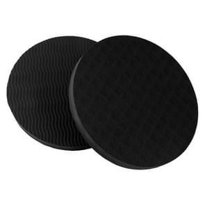 E90 ronde yoga ondersteuning kussen balans bescherming kussen  diameter: 17.5 cm (zwart)