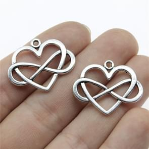 50PCS 27x22mm Heart Infinity Charm Infinity Knot Charm Infinity Heart Charm For Jewelry Making