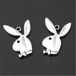 100PCS Antique silver Handsome rabbit gentleman charm earring Necklace DIY  jewelry alloy Pendants A792