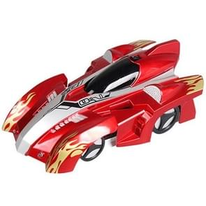 WT891-1 Remote Control Climbing RC Car With Led Lights 360 Degree Rotating Stunt Toys Antigravity Machine Wall Car(Red)