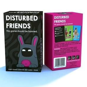 Board Game Disturbed Friends Card Exciting Funny Exploding Party Desktop Puzzle Game For Adults, Color:Basic