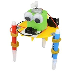 DIY Robot Kids Puzzle Solar Toys Painting Toy