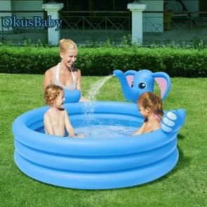 53048 Elephant Shape Three-ring Inflatable Children Swimming Pool with Water Spray Function, Size: 152 x 152 x 74cm