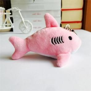 Mini Shark Key Chain Children Plush Stuffed Toy, Size:Length about 12cm(Pink)