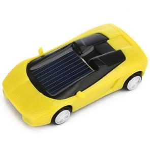 3PCS Solar Toys Car  Powered Mini Car Racer Toy For Kids(Yellow)