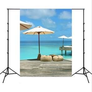 1.5 m x 2.1 m simulatie 3D strand zeegezicht kokosnoot boom foto fotografie achtergrond doek (4555)