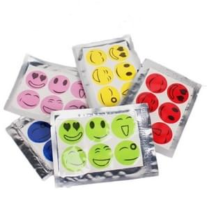 10 PCS Mosquito Stickers DIY Mosquito Repellent Stickers Patches Cartoon Smiling Face Drive Repeller (Color Random Delivery)