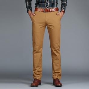 Rechte losse casual katoenen broek voor heren (Dark Khaki)