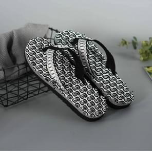 2 Pairs Men Anti-slip Soft Bottom Fashion Wear Massage Sandals Slippers, Size:41(Circle Black)