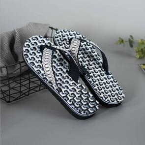 2 Pairs Men Anti-slip Soft Bottom Fashion Wear Massage Sandals Slippers, Size:41(Circle Blue)