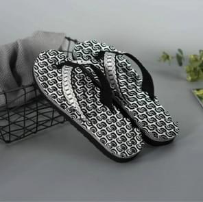 2 paren mannen anti slip zachte bottom Fashion slijtage massage sandalen slippers, grootte: 44 (cirkel zwart)