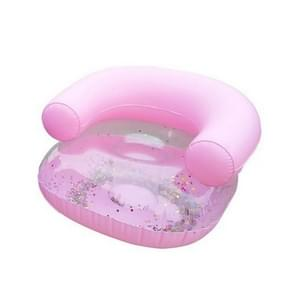 Baby Inflatable Sofa Stool Learn Portable Thickened Multifunctional Bathroom Children Sofa Chair(Children's sofa pink)