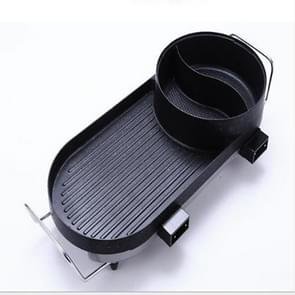 Smokeless Electric Grill Non-stick Chafing Dish Home Appliances, Style:Long removable separable roast pot
