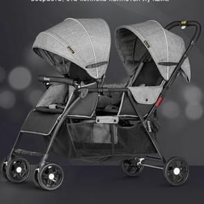 Twin Newborn Baby Folding Baby Lying Down Trolley