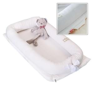Summer Breathable Cotton Portable Collapsible Detachable Baby Travel Bed