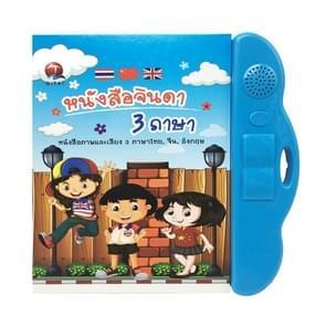 Thaise Chinese Kinderen vroeg leren elektrische audioboeken educatieve speelgoed (Blauw)