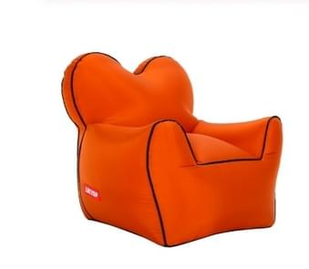 Outdoor Portable Single Moisture Water Proof Inflatable Lazy Sofa Bean, Size:60x70x60cm(Orange)