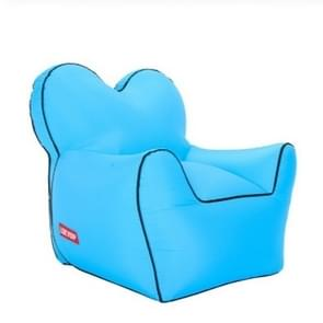 Outdoor Portable Single Moisture Water Proof Inflatable Lazy Sofa Bean, Size:60x70x60cm(Sky Blue)
