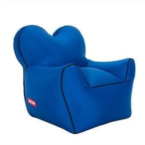 Outdoor draagbare één vocht water proof opblaasbare luie sofa Bean  grootte: 60x70x60cm (marineblauw)