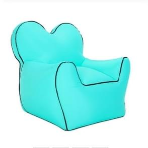 Outdoor Portable Single Moisture Water Proof Inflatable Lazy Sofa Bean, Size:60x70x60cm(Lake Blue)