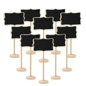10 PCS Blackboard Wooden Chalkboard Mini Message Notice Board Table Wedding Party Decoration